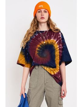 Urban Outfitters – Oversized T Shirt Mit Batiklook In Lila by Urban Outfitters Shoppen