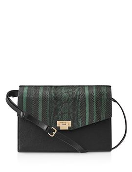 Conway Snake Leather Shoulder Bag by Reiss