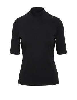Fitted Mock Neck T Shirt by Banana Repbulic