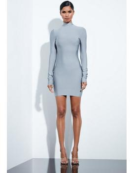 Peace + Love Grey Bandage Ruched Sleeve Dress by Missguided