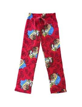 Womens Disney Beauty & Beast Fleece Sleep Pants Fuzzy Belle Pajama Bottoms by Disney