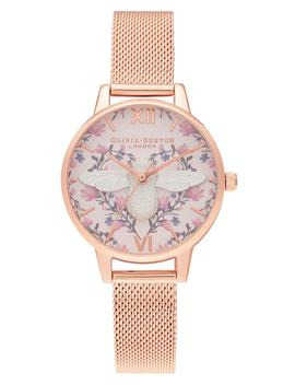Meant To Bee Mesh Strap Watch, 30mm by Olivia Burton