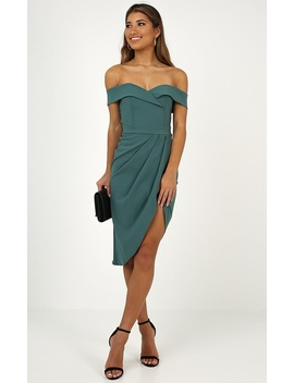 Let Me Down Easy Dress In Teal by Showpo Fashion