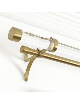Acrylic Double Rod Hardware Set by Ballard Designs