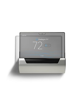 Glas Smart Thermostat By Johnson Controls, Translucent Oled Touchscreen, Wi Fi, Mobile App, Works With Amazon Alexa by Johnson Controls