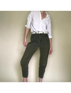 Vintage Olive Green High Rise Denim 27 W by Etsy