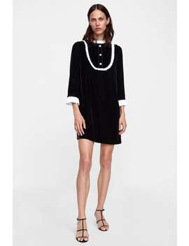 Combined Velvet Dress  Starting From 70 Percents Offwoman Sale by Zara