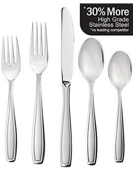 Radley & Stowe 20 Piece Flatware Solid Stainless Steel Silverware Set (Designer Grade With Matte Finish Handle) by Radley & Stowe