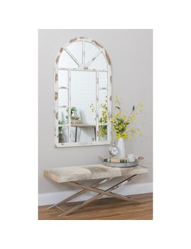 Aspire Home Accents Lara Farmhouse Arch Wall Mirror   30 W X 52 H In. by Aspire Home Accents