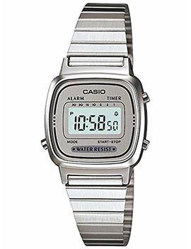 Casio Women's La670 Wa 7 Silver Tone Digital Retro Watch by Casio