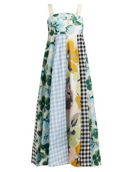 Bridget Printed Cotton Blend Apron Dress by Lee Mathews