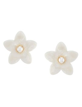 Resin Flower Statement Earrings by Anna &Amp; Ava