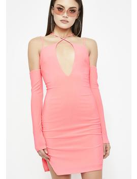 Futuristic Flame Bodycon Dress by Day Night