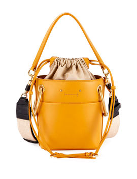 Roy Mini Smooth Leather Bucket Bag by Chloe