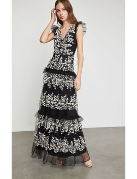 Floral Vine Applique Gown by Bcbgmaxazria