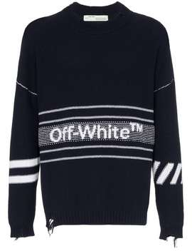 Logo Distressed Jumper by Off White
