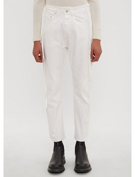 Karate Jeans In White by Vyner Articles
