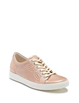 Soft 7 Perforated Leather Sneaker by Ecco
