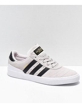 Adidas Busenitz Vulc Crystal White & Black Shoes by Adidas