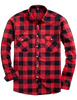 Alimens & Gentle Men's Button Down Regular Fit Long Sleeve Plaid Flannel Casual Shirts by Alimens & Gentle