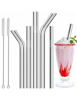 Stainless Steel Straws, 11 Pcs Full Variety Reusable Metal Drinking Straws With Smooth Friendly Wide Diameter Straw For Yeti 20oz 30oz 40oz Tumblers by Antonki
