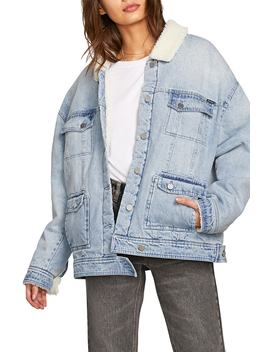 Woodstone Fleece Trim Denim Jacket by Volcom