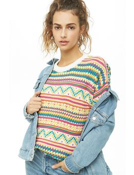 Multicolor Knit Sweater by Forever 21
