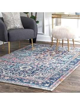 Nu Loom Distressed Vintage Faded Floral Rug (5' X 7'5) by Nuloom