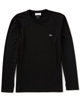 Pima Cotton Jersey Long Sleeve Tee by Lacoste