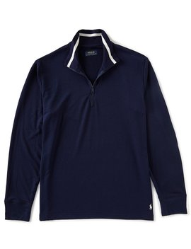 Long Sleeve Quarter Zip Long Sleeve Top by Polo Ralph Lauren
