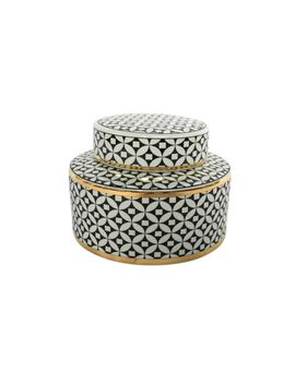 Geometric White &Amp; Black Jar by Pier1 Imports