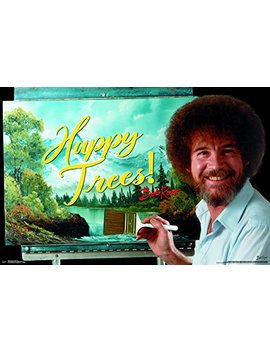 """Trends International Bob Ross Happy Trees Wall Poster, 22.375"""" X 34"""", Multicolor by Trends International"""