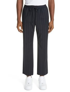 Drawstring Pinstripe Pants by Juun.J