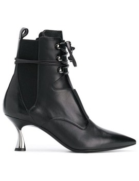 Heeled Lace Up Ankle Boots by Casadei