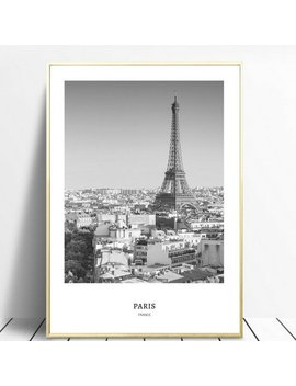 Paris Monochrome Wall Art, Printable Wall Art, Downloadable Wall Art, Monochrome Wall Art, Travel Decor, Black And White Wall Art by Etsy