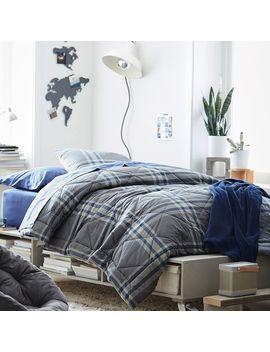 Xander Plaid Comforter + Sham by P Bteen