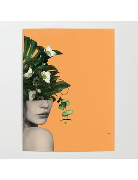 Lady Flowers Vlll Poster by