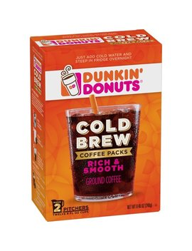 Dunkin' Donuts Cold Brew Coffee Packs, Smooth & Rich Ground Coffee, 8.46 Ounce by Dunkin' Donuts