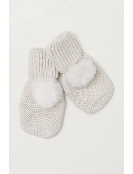 Mittens With Pompoms by H&M