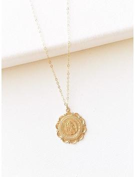 Medallion Necklace, Coin Necklace, Layered Necklace, Pendant Necklace, Minimalist Necklace, Boho Necklace, Gold Necklace, Dainty Necklace by Etsy