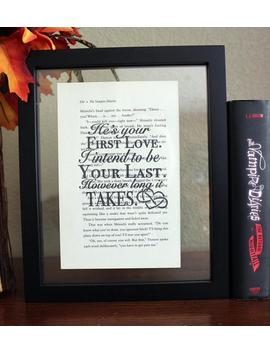 The Vampire Diaries • He's Your First Love • Klaus Mikaelson • Caroline Forbes • Tv Shows • Wall Art • Book Quote • Tvd Decor by Etsy