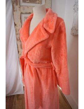 Fluffy Peach Bath Robe / Vintage Women Dressing Gown by Etsy