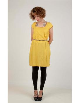Handmade Vintage Tunic/Salwar Kameez/ Short Sleeved Yellow Tunic/Size Small by Etsy