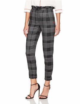 Dear Drew By Drew Barrymore Women's Arthur Avenue High Waist Ruffle Trouser by Dear Drew By Drew Barrymore