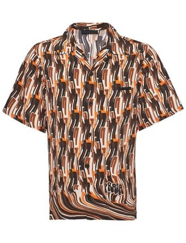 Short Sleeved Pongé Shirt by Prada