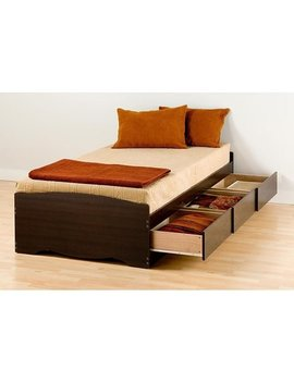 Espresso Twin Mate's Platform Storage Bed With 3 Drawers by Prepac