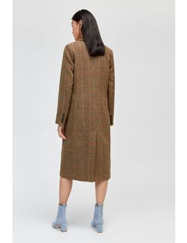 Full Length Check Coat by Warehouse