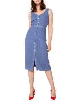 Mahlia Sleeveless Check Midi Dress by The East Order