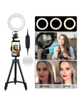 Ring Light Stand Tripod Mini Led Camera Light With Cell Phone Holder Led Lamp by Wow Parts
