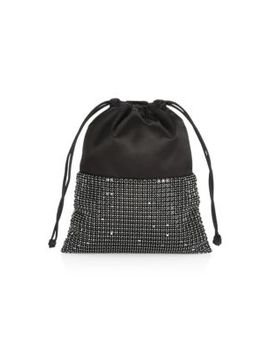 Ryan Rhinestone & Leather Dustbag by Alexander Wang